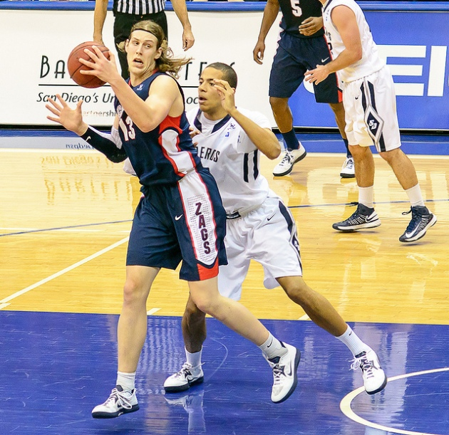 Gonzaga center Kelly Olynyk is a weird-looking dude, but he might actually make sense for Dallas. Courtesy of SD Dirk's Flickr.